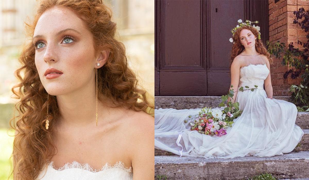 fotomodella abiti sposa sofia