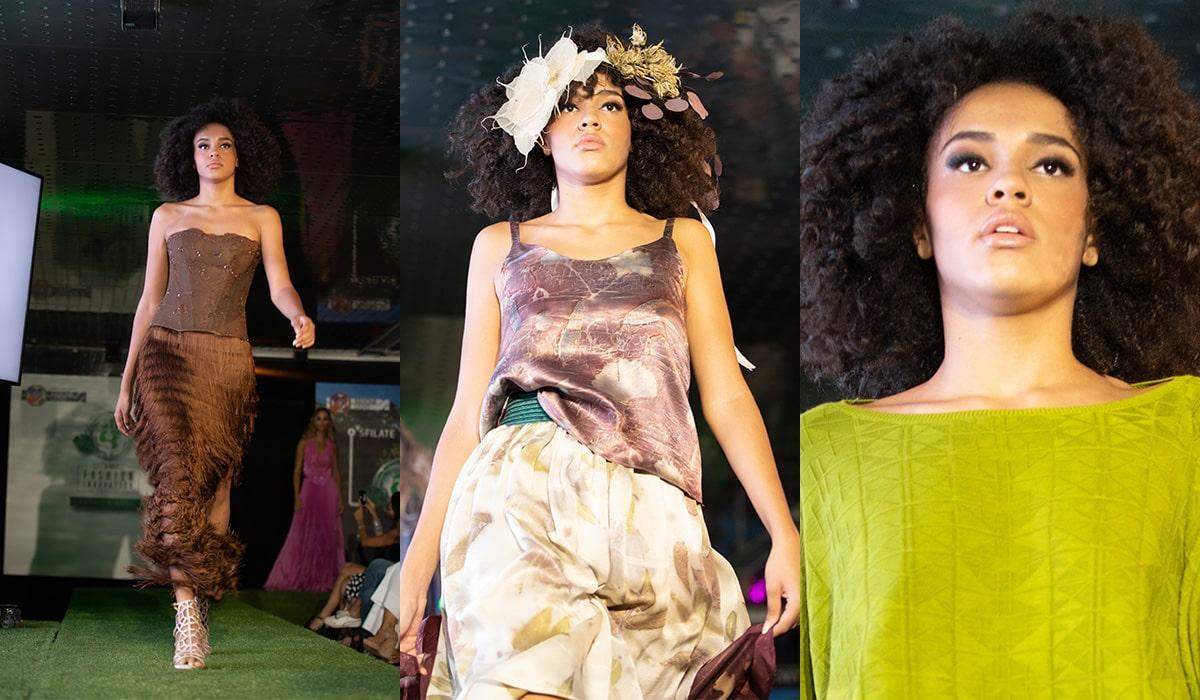modella per sfilate moda sostenibile ed etica